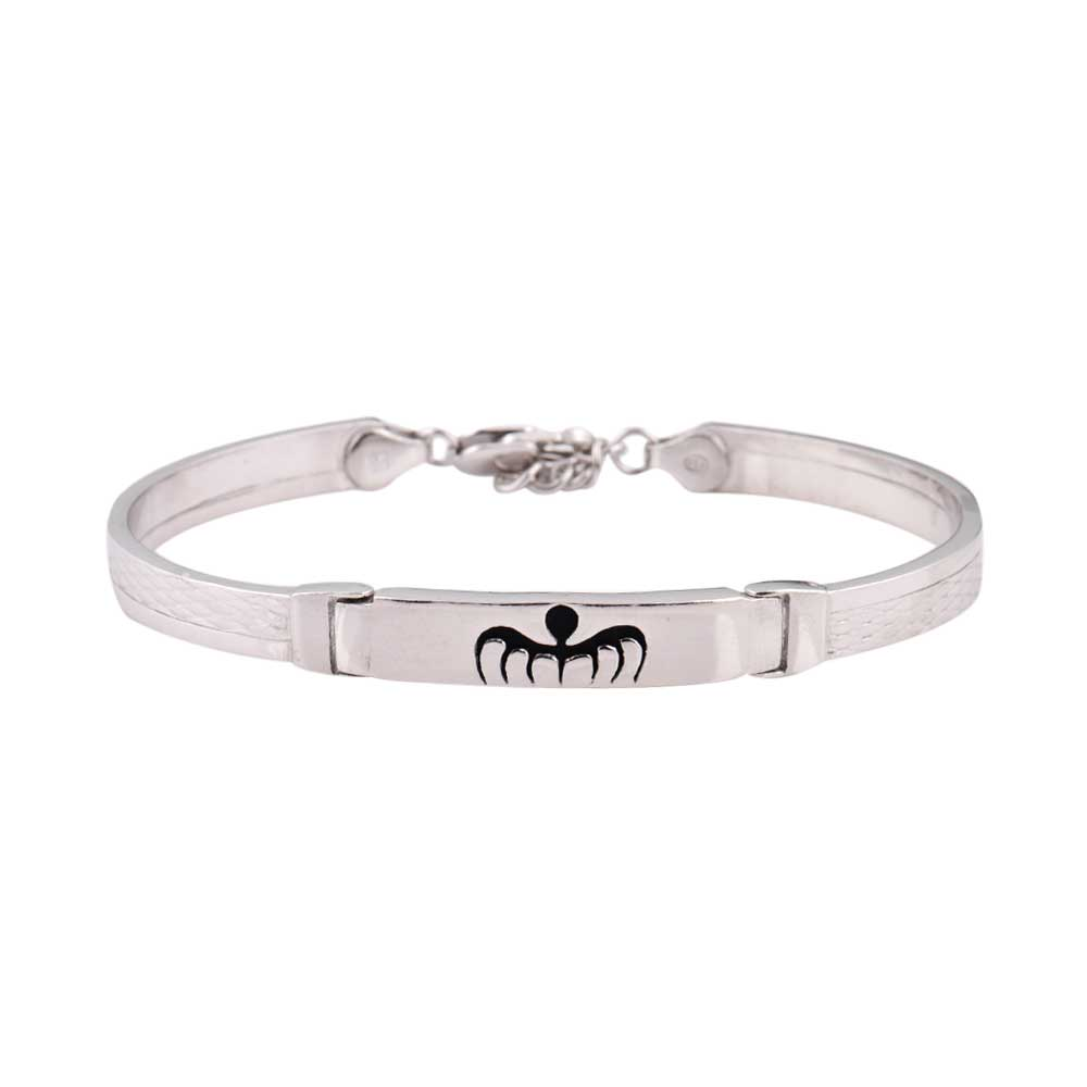 92.5 Sterling Silver Bracelet Adjustable Kadaa With Insect Logo