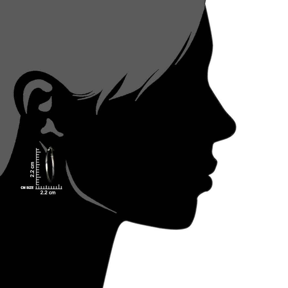 Classic 92.5 Sterling Silver Hoop Bali Earrings For Women