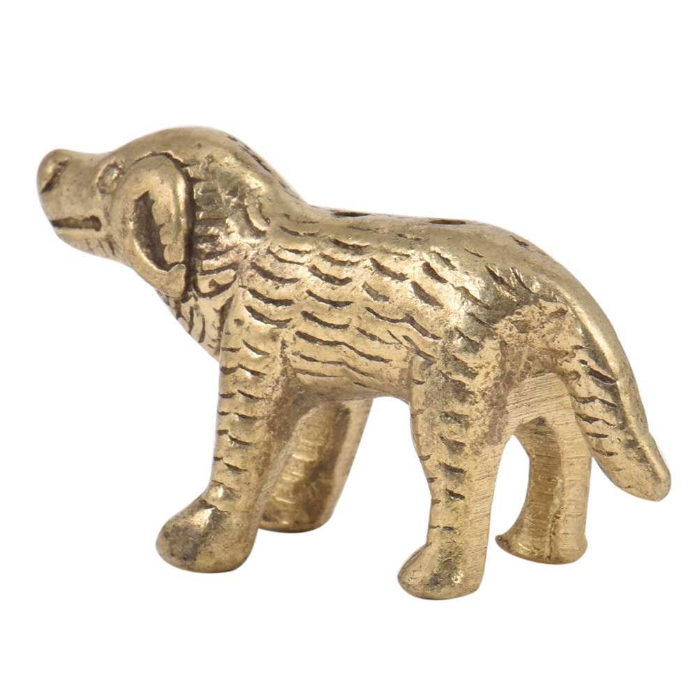 Handmade Incense Holder Brass Standing Dog Statue