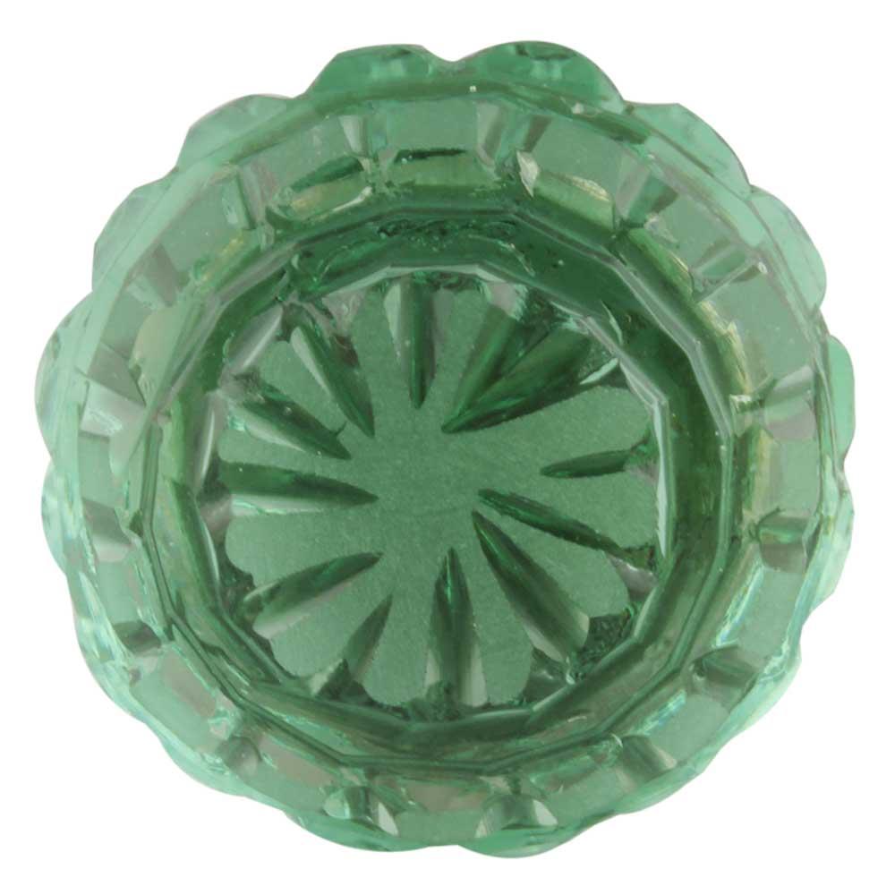 Mint Green Round Patterned Glass Knob