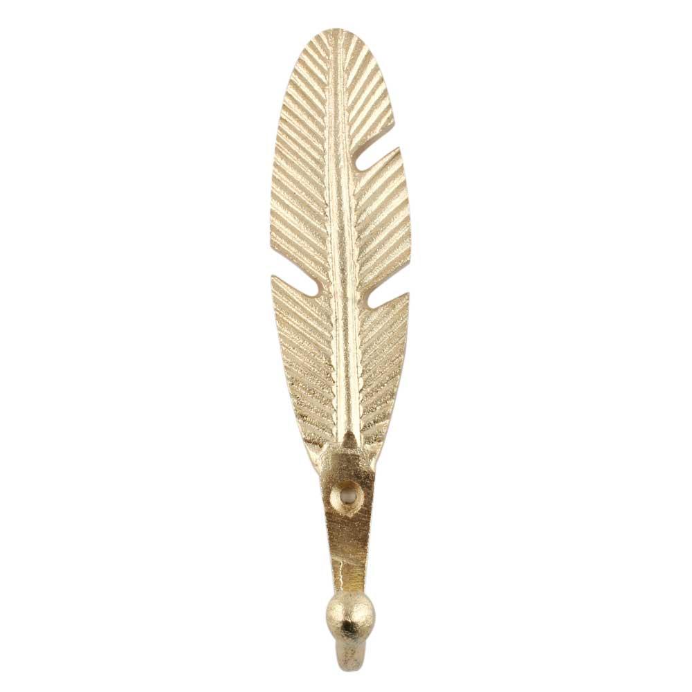 Golden Big Feather Iron Hook