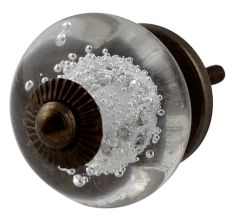 Clear Bubble Glass Cabinet Knobs