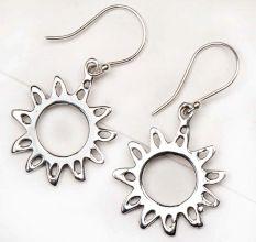 Sunflower Filigree 92.5 Sterling Silver Earrings For Girls