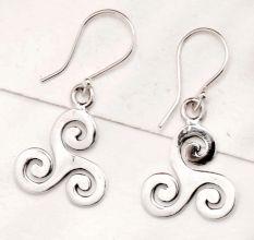 Artistic Handmade 92.5 Sterling Silver Earrings