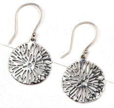 Floral Burst 92.5 Sterling Silver Earrings Daily Wear For Girls