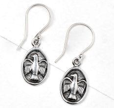 Flying Bird 92.5 Sterling Silver Drop Earrings For Women