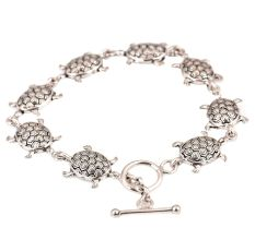 Contemporary Tortoise Charms 92.5 Sterling Silver Bracelets