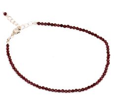 Natural Faceted Garnet Bead Bracelets For Women