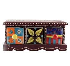 Spice Box-1439 Masala Rack Container Gift Item