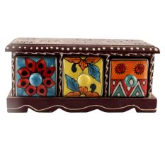 Spice Box-1442 Masala Rack Container Gift Item