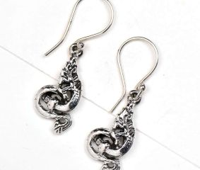 Dragon Charm 92.5 Sterling silver Earrings