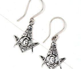 G Letter 92.5 Sterling silver Earrings Engraved Tribal Design Earrings