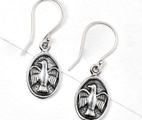 Flying Bird 92.5 Sterling Silver Drop Earrings For Women