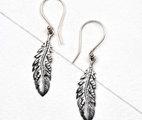 Long leaf 92.5 Sterling silver daily Wear earrings