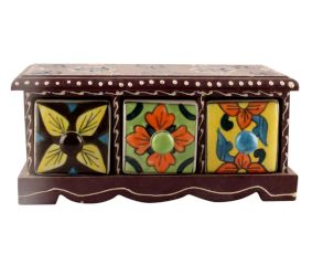 Spice Box-1445 Masala Rack Container Gift Item