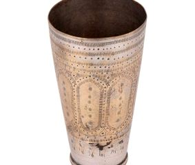 Elegantly patterned Brass Lassi Glass Cup For Gifting