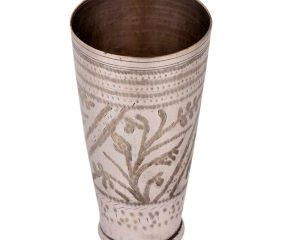 Intricately Carved Brass Lassi Glass Cup For Gifting