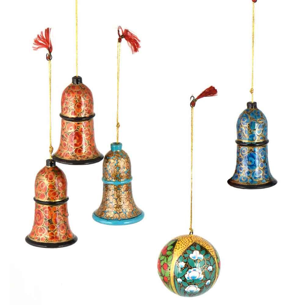 Handmade Bell And Ball Christmas Ornaments Christmas tree Decoration ( Set Of 7)