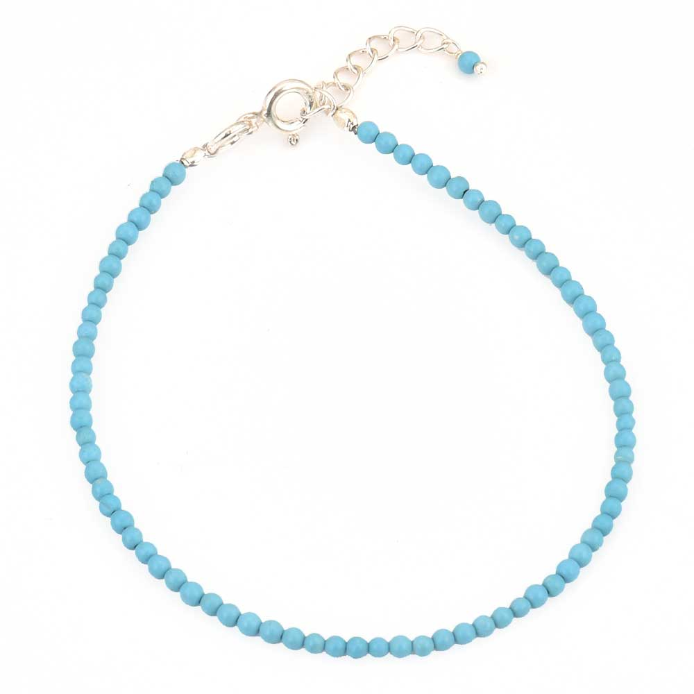 Chic Blue Turquoise Beads Bracelet For Girls