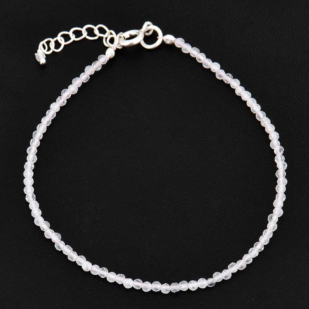 Clear Quartz Beaded bracelet for women and girls
