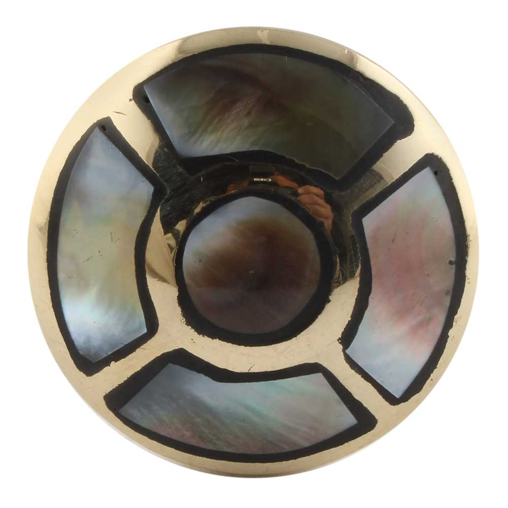 Round Golden Brass And shell Metal Cabinet Knobs