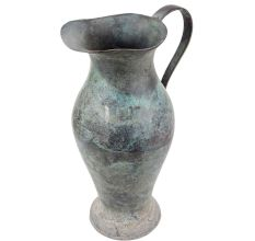 Old Brass Water Pot Pitcher with A Single Large Handle For Home Decoration
