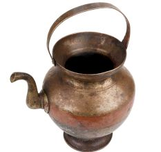 Brass Kamandal Water Pot with Spout And U shaped Handle