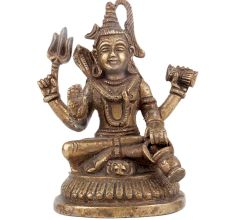 Handmade Brass Shiva Statue For Home Decoration