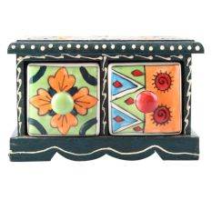 Spice Box-1483 Masala Rack Container Gift Item