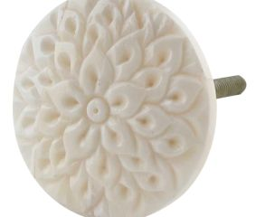 Cream Calendula Bon Bon Bone Cabinet Knobs