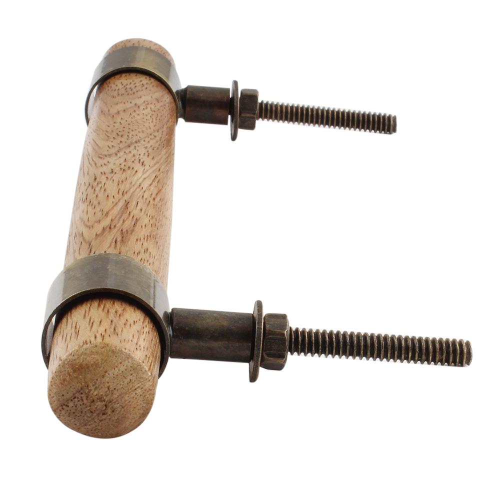 Natural T Bar Wood Brass Handles