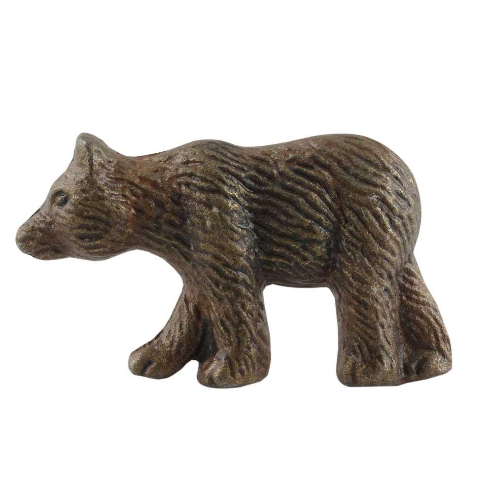 Antique Bear Iron Dresser Knob