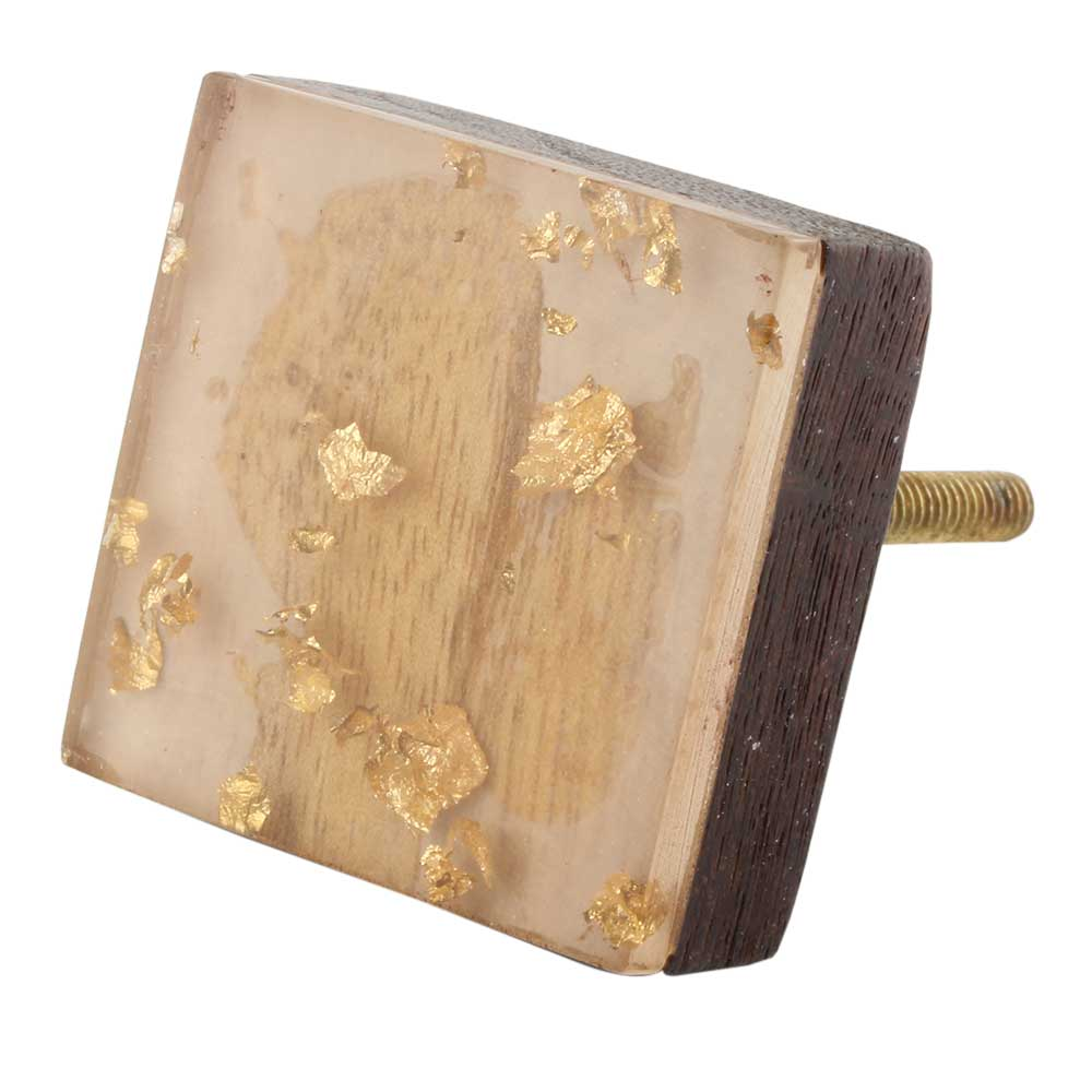 Square Wooden Resin Drawer knobs
