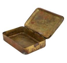 Brass Storage Box With English Lady face and Country Names