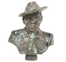 Brass Army Solider Bust For Home Decoration