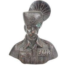 Handmade Brass Military Statues Sculpture Bust