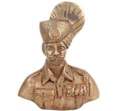 Brass Military Statues Sculpture Bust