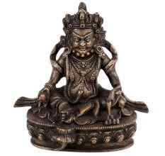 Handmade Brass Lord Kuber Tibetan Statue