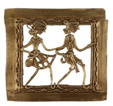 Dhokra Art Adivasi  Couple Wall Hanging