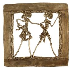 Brass Wall Art Hanging Of Tribal couple Lady And Man Together