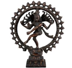Brass Natraja Statue Dancing Shiva With Rings Of Flame