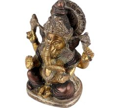 Brass Ganesha Statue Puja Offering For Temple Decoration