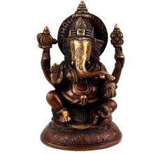 Brass Ganesha Statue Idol Showpiece