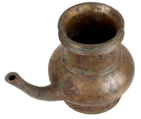 Traditional Brass Pot with a Long Spout