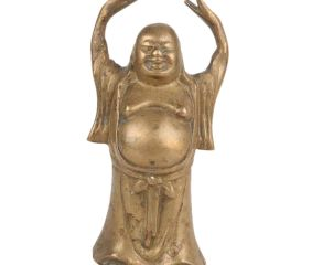 Brass Standing Laughing Buddha Statue