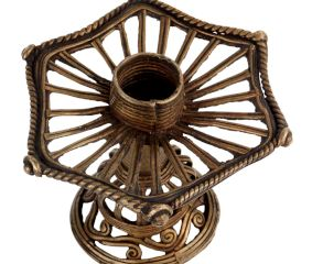 Brass Candle Stand Or Essence Burner Wired Design
