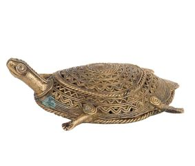 Brass Turtle Tribe Art Statue