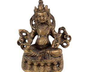 Brass Lord Kuber Tibetan Art Statue