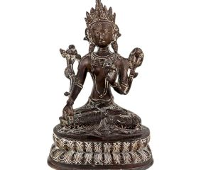 Brass Buddha Statue Sitting In Meditation