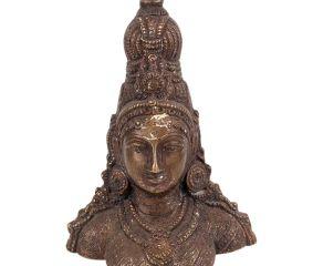 Brass Parvati Bust Statue Showpiece